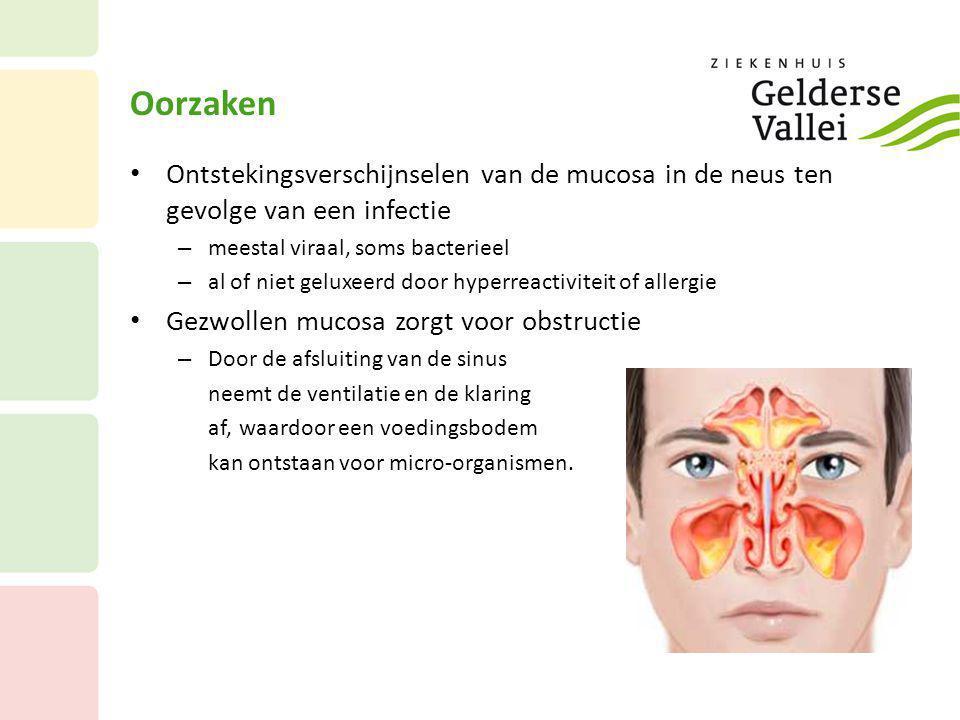 Oorzaken Ontstekingsverschijnselen van de mucosa in de neus ten gevolge van een infectie. meestal viraal, soms bacterieel.
