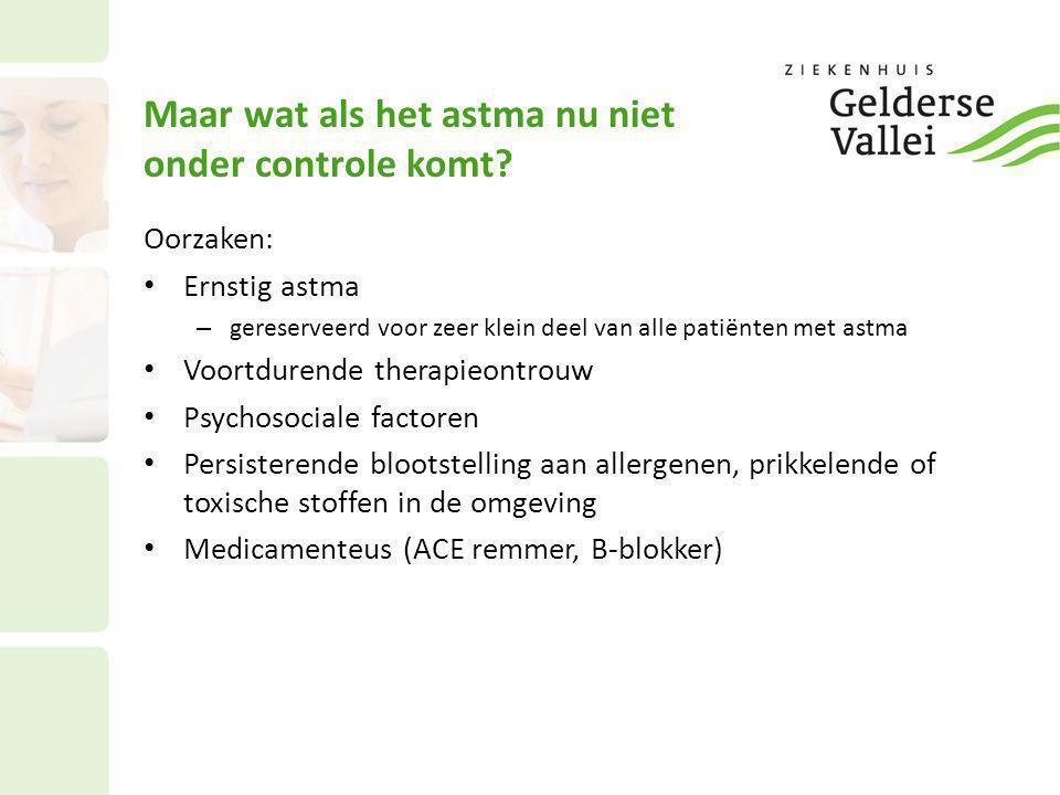 Maar wat als het astma nu niet onder controle komt