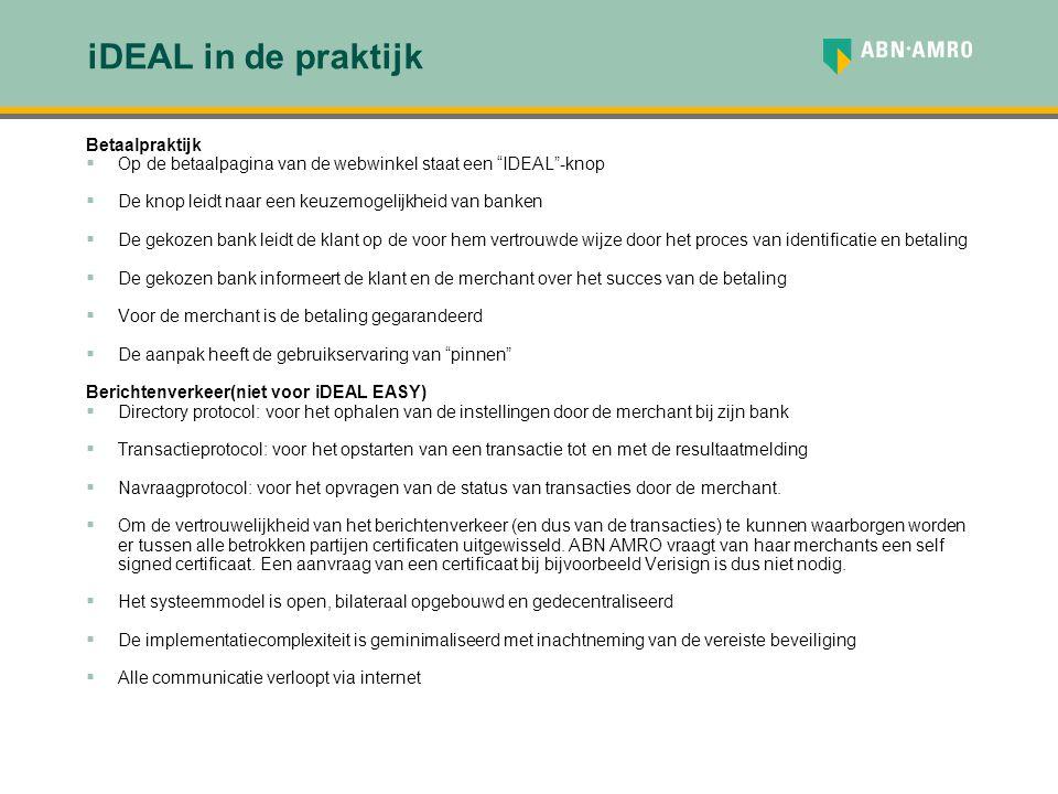 iDEAL in de praktijk Betaalpraktijk
