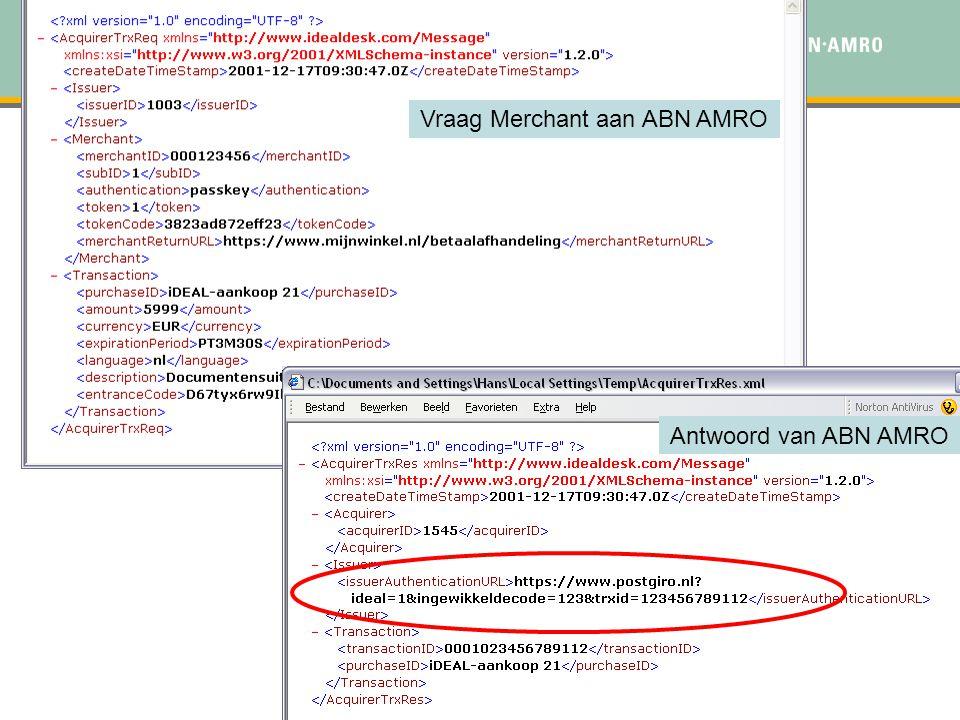 Vraag Merchant aan ABN AMRO
