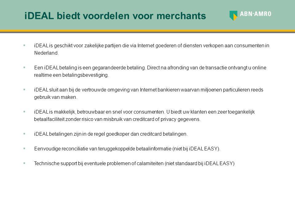 iDEAL biedt voordelen voor merchants