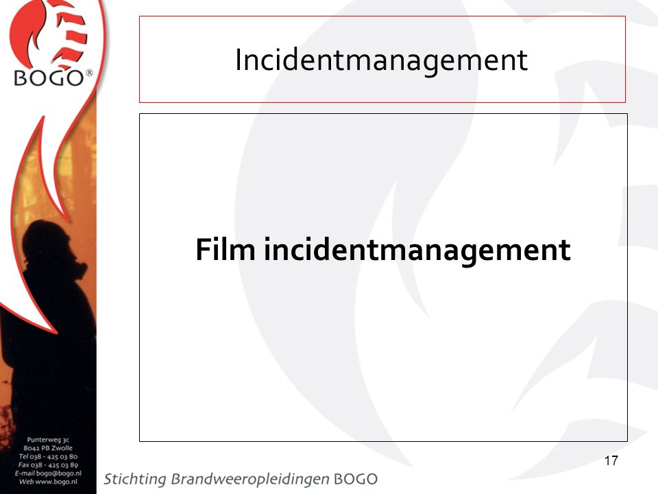 Film incidentmanagement