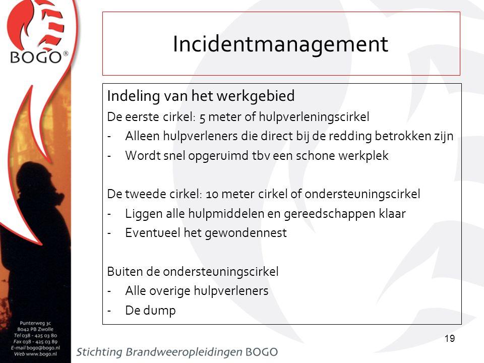 Incidentmanagement Indeling van het werkgebied