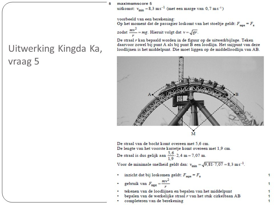 Uitwerking Kingda Ka, vraag 5
