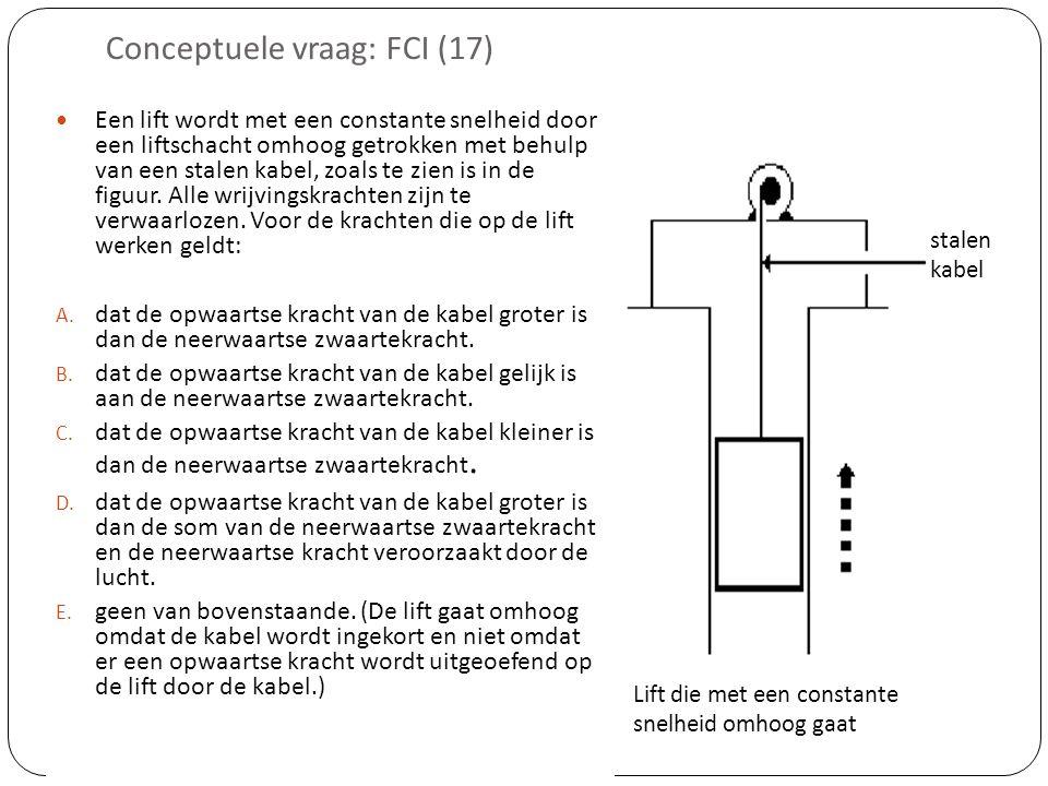 Conceptuele vraag: FCI (17)