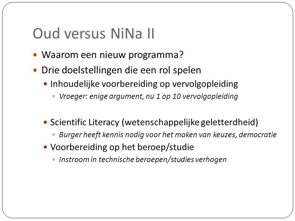 Oud versus NiNa II Waarom een nieuw programma
