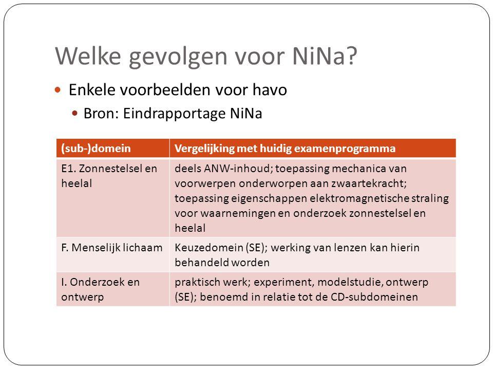 Welke gevolgen voor NiNa