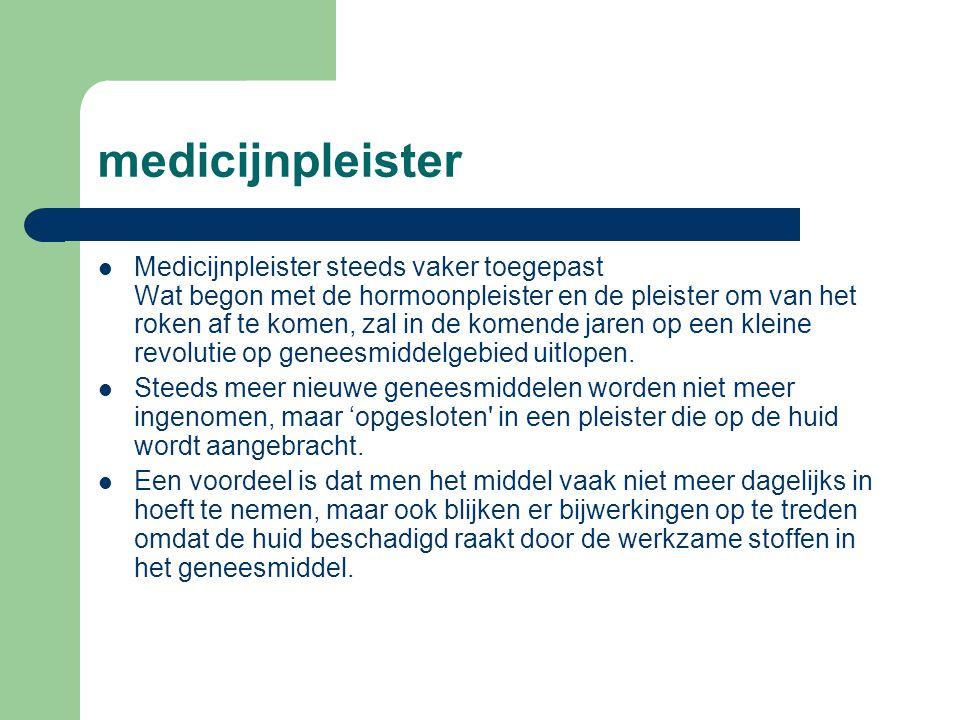 medicijnpleister