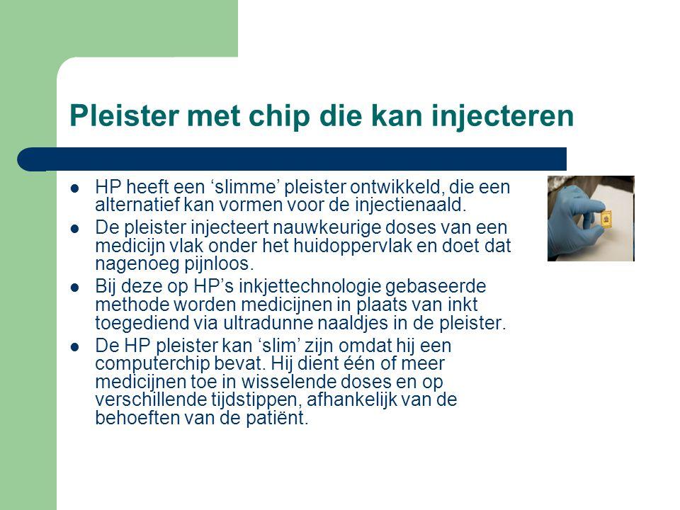 Pleister met chip die kan injecteren