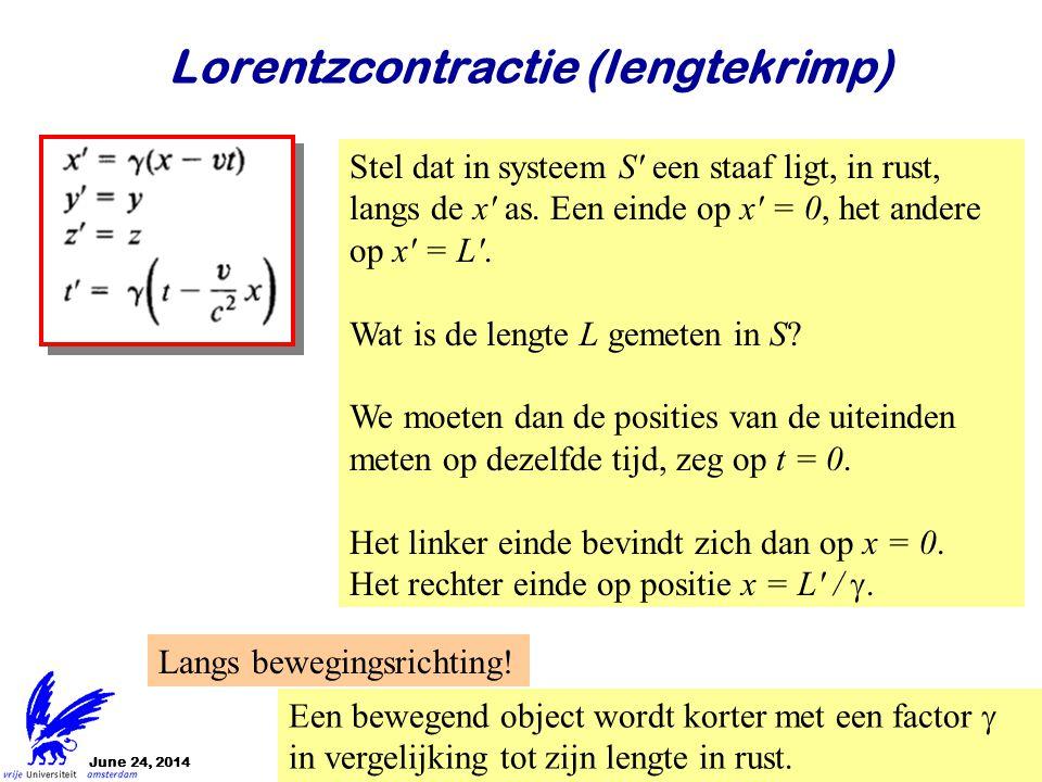 Lorentzcontractie (lengtekrimp)
