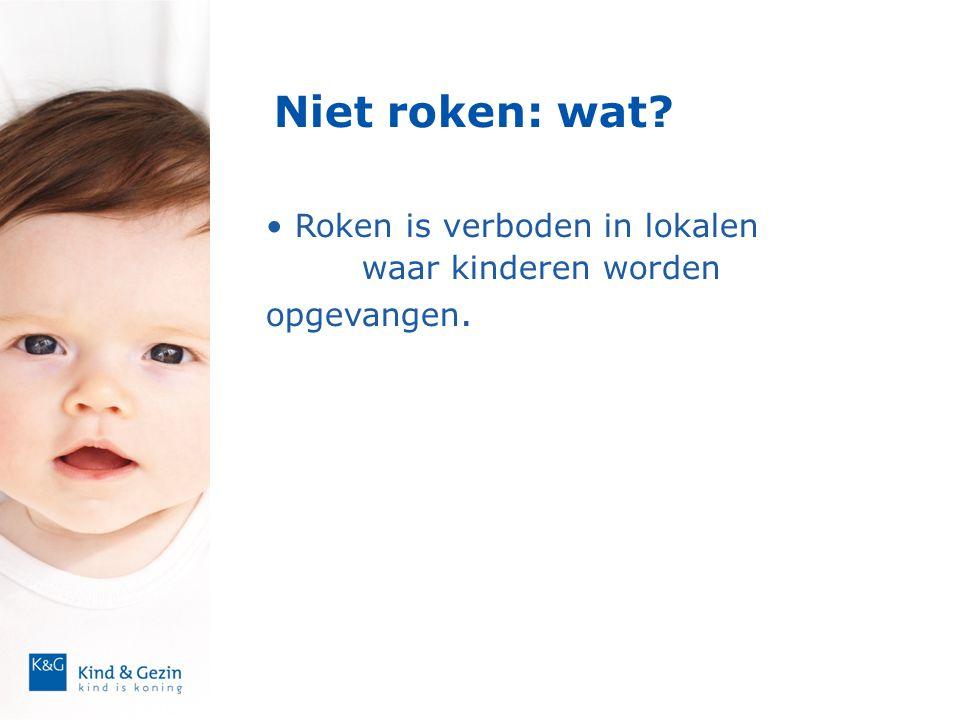 Niet roken: wat Roken is verboden in lokalen waar kinderen worden opgevangen. 7