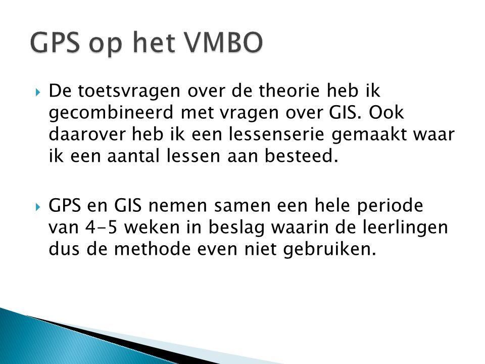 GPS op het VMBO