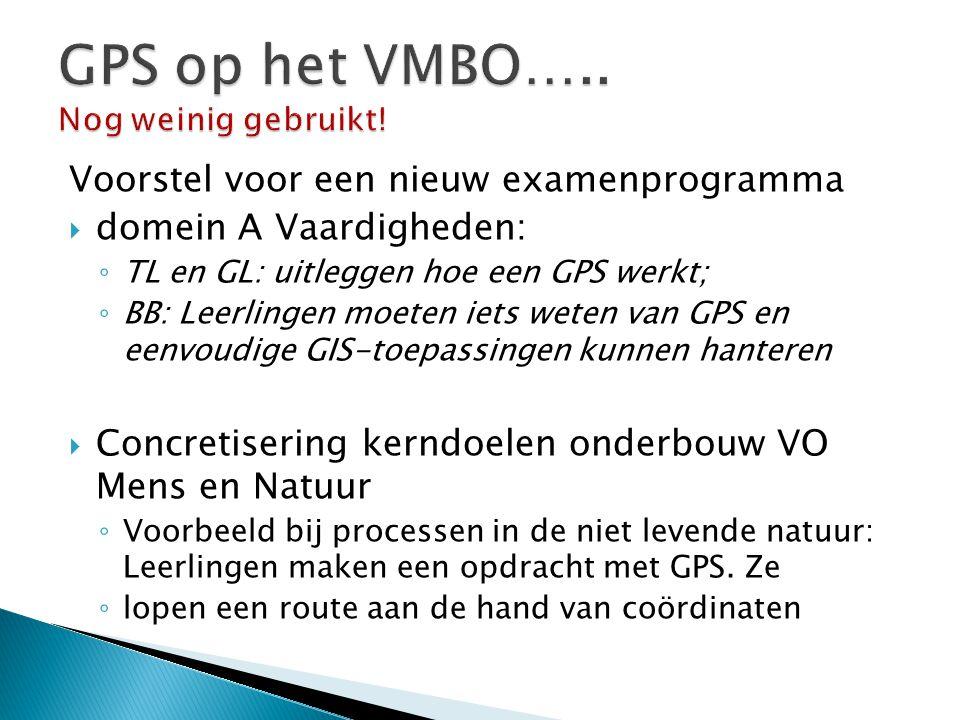 GPS op het VMBO….. Nog weinig gebruikt!