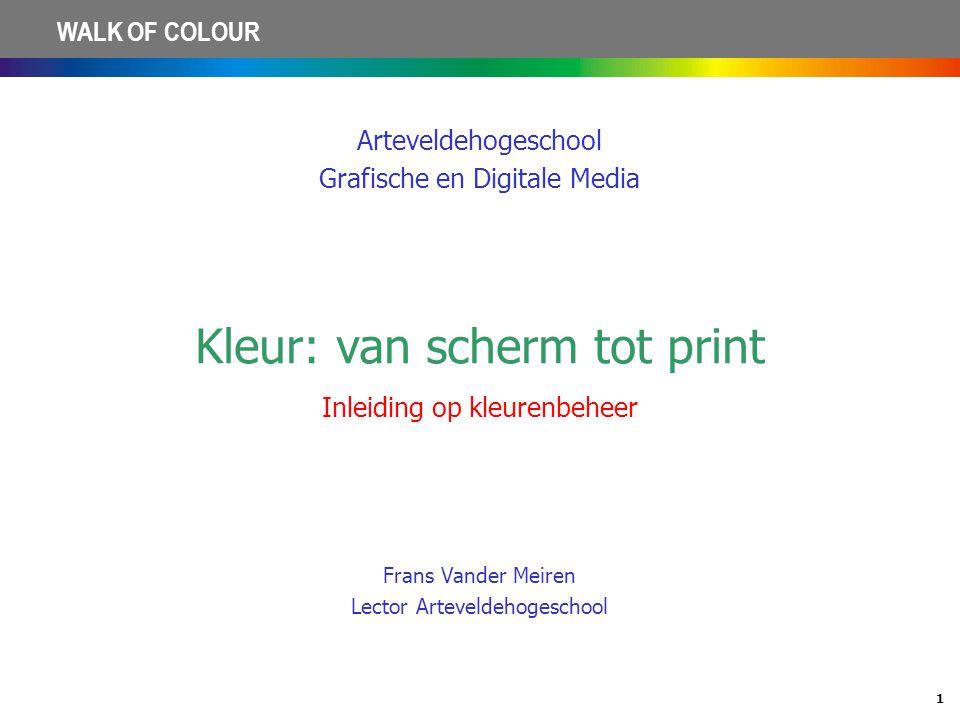 Kleur: van scherm tot print