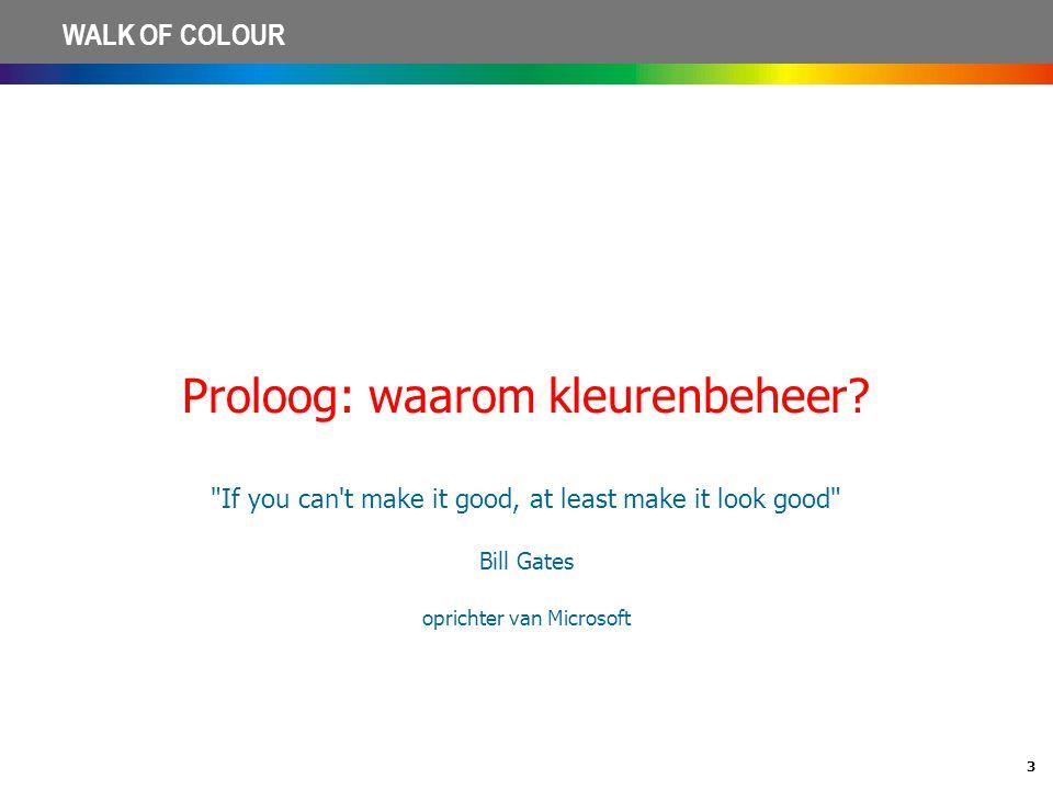 Proloog: waarom kleurenbeheer