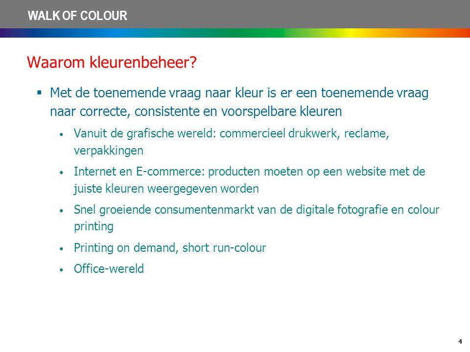 Waarom kleurenbeheer Met de toenemende vraag naar kleur is er een toenemende vraag naar correcte, consistente en voorspelbare kleuren.