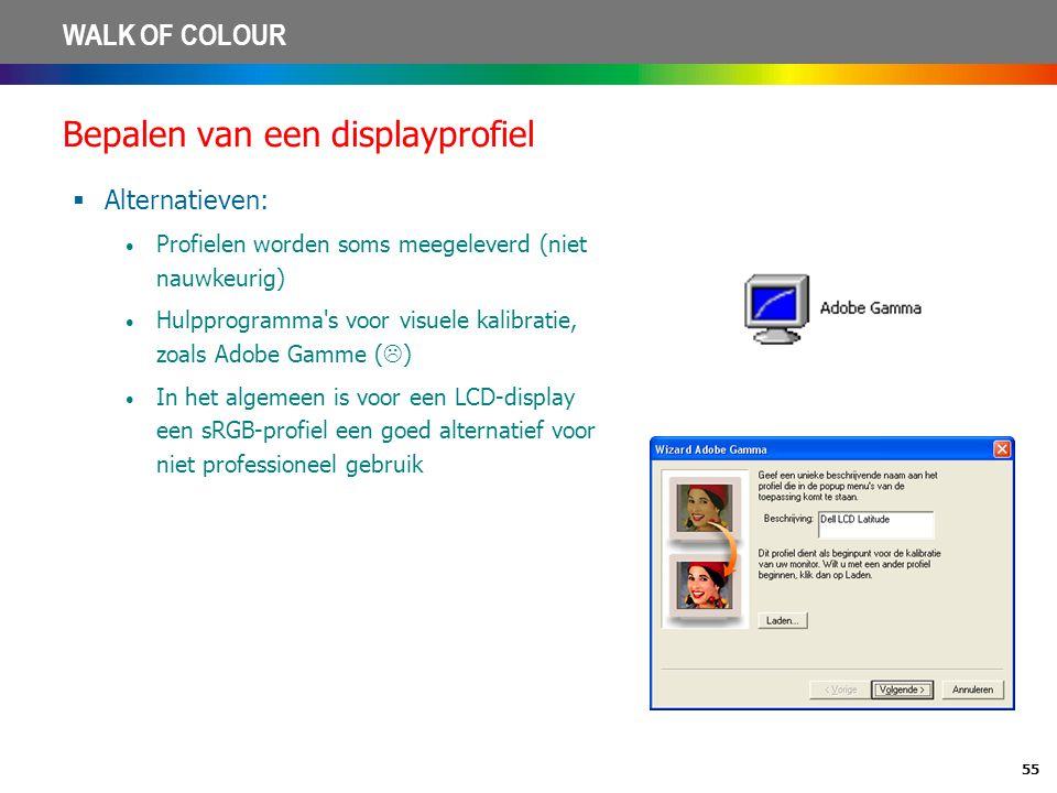 Bepalen van een displayprofiel