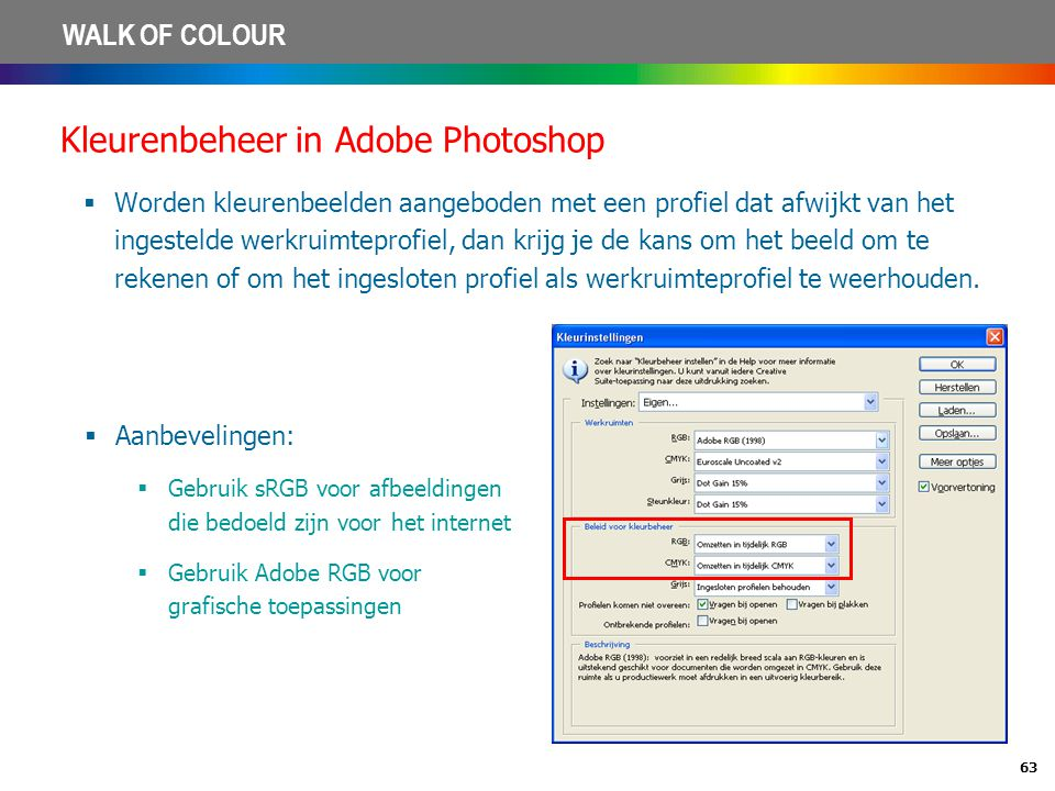 Kleurenbeheer in Adobe Photoshop