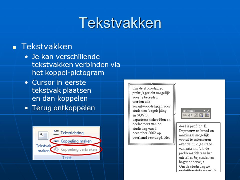 Tekstvakken Tekstvakken