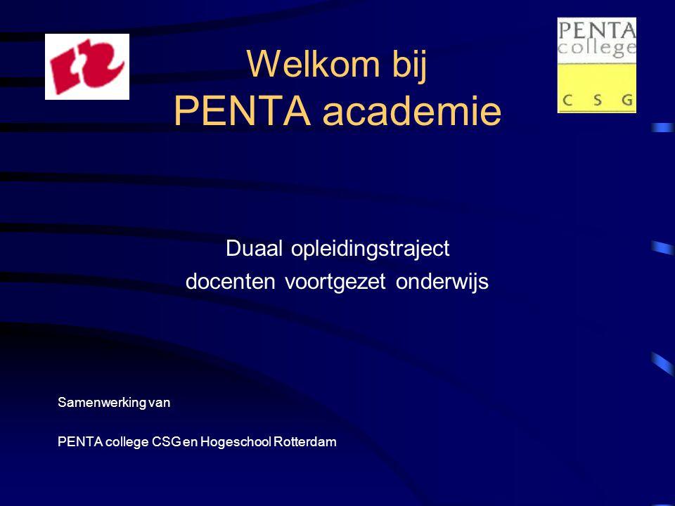 Welkom bij PENTA academie