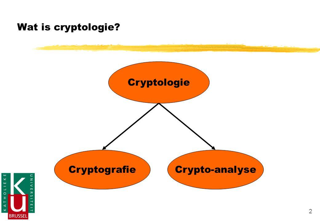 Wat is cryptologie Cryptologie Cryptografie Crypto-analyse