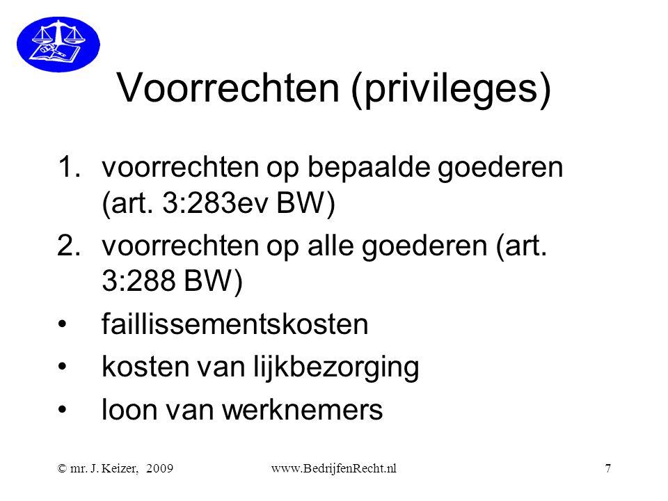 Voorrechten (privileges)