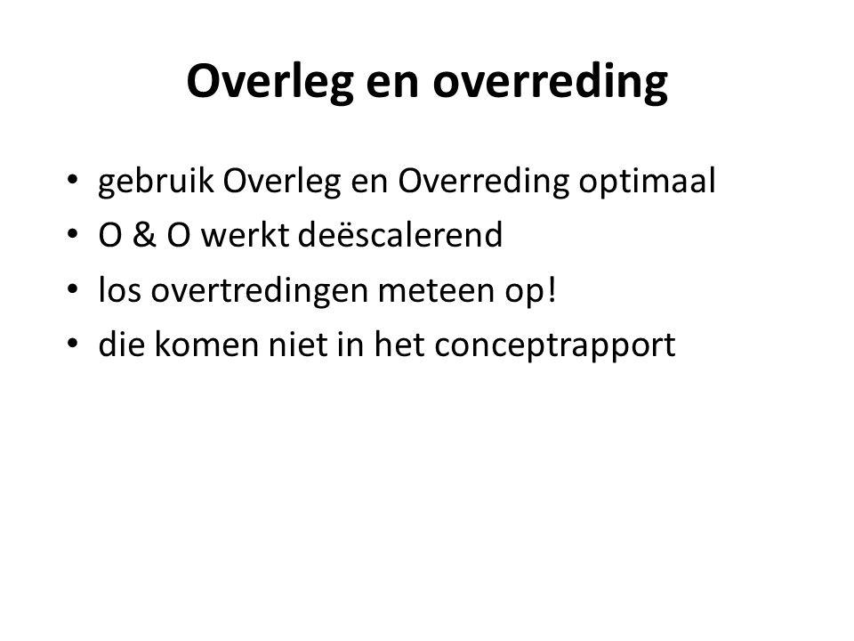 Overleg en overreding gebruik Overleg en Overreding optimaal