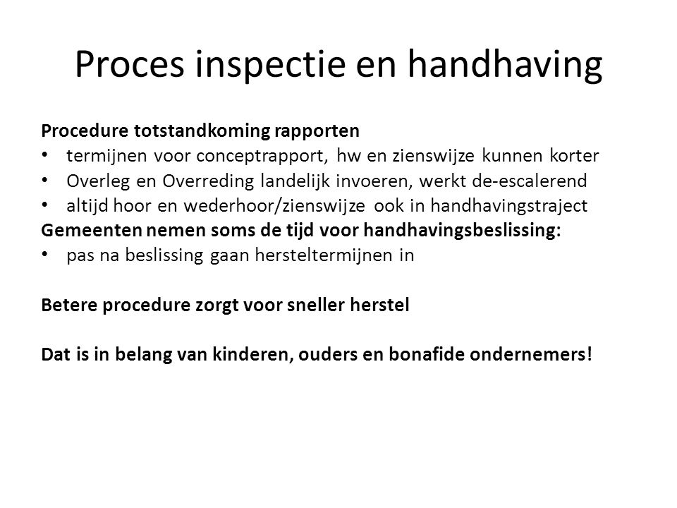 Proces inspectie en handhaving