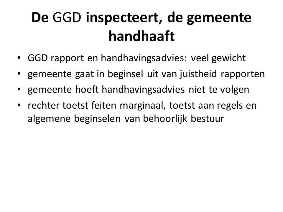 De GGD inspecteert, de gemeente handhaaft