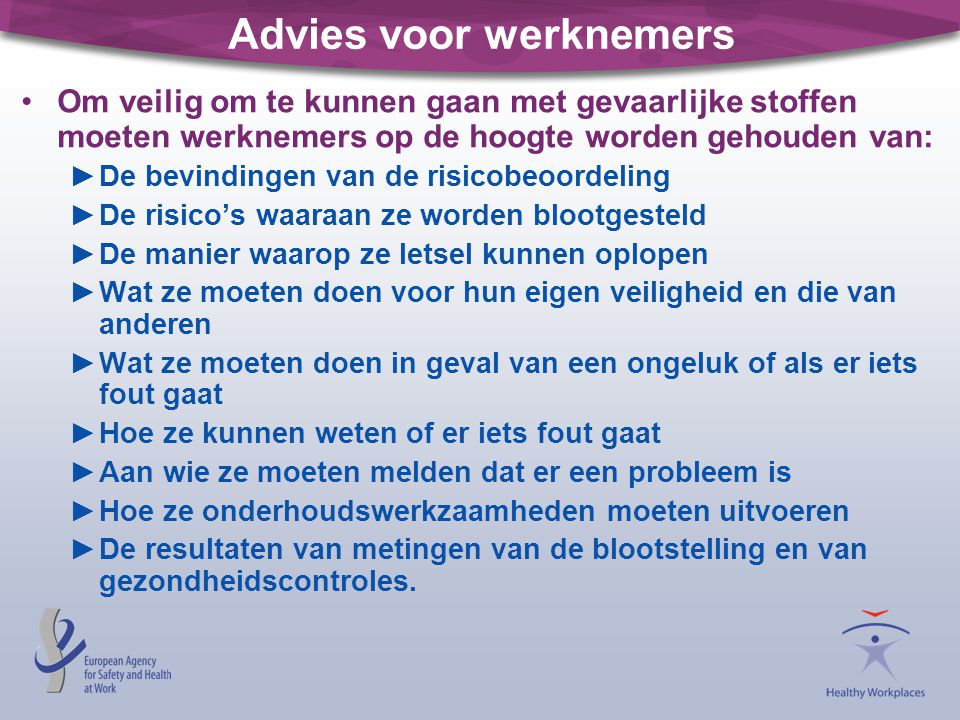 Advies voor werknemers