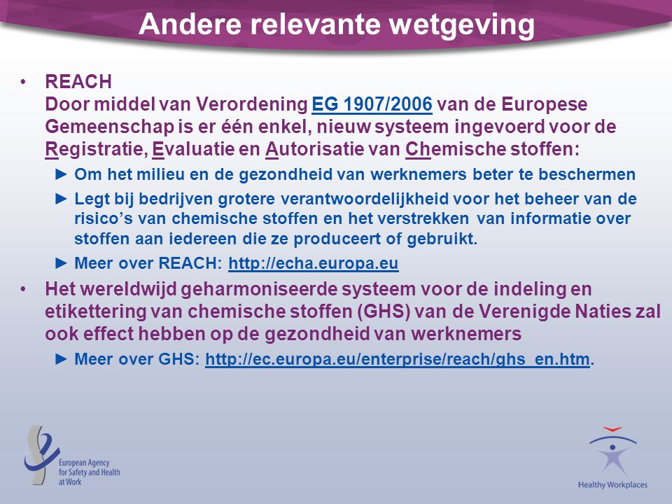 Andere relevante wetgeving