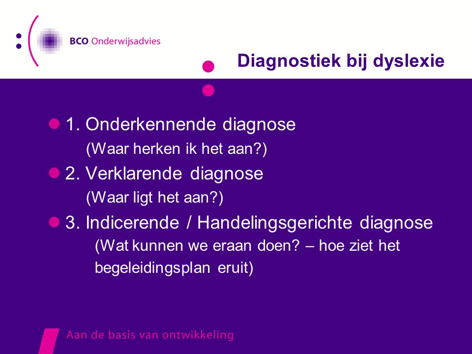 Diagnostiek bij dyslexie