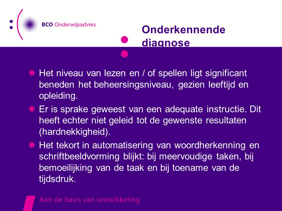 Onderkennende diagnose
