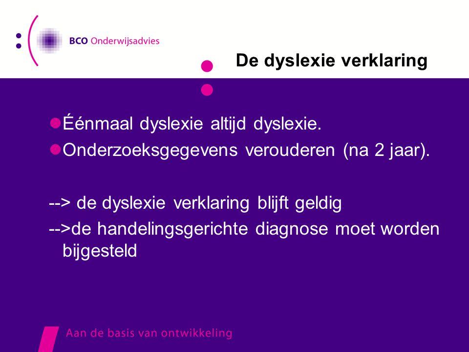 De dyslexie verklaring