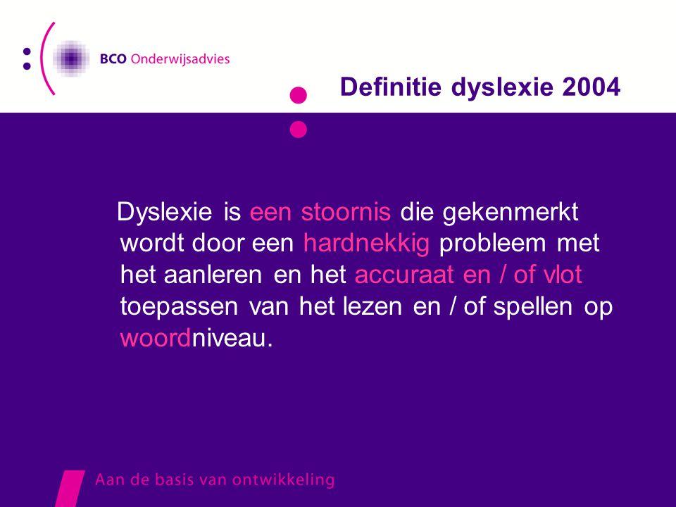 Definitie dyslexie 2004