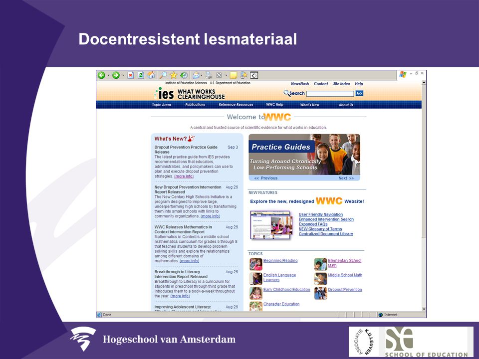 Docentresistent lesmateriaal