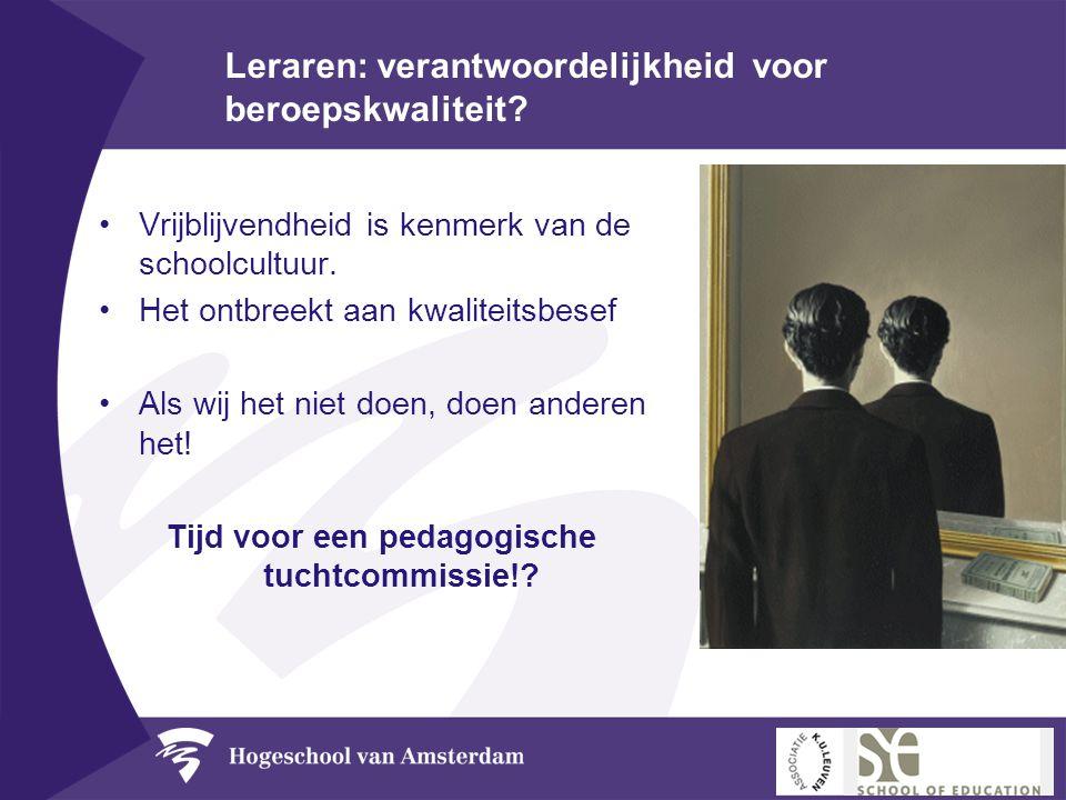 Leraren: verantwoordelijkheid voor beroepskwaliteit