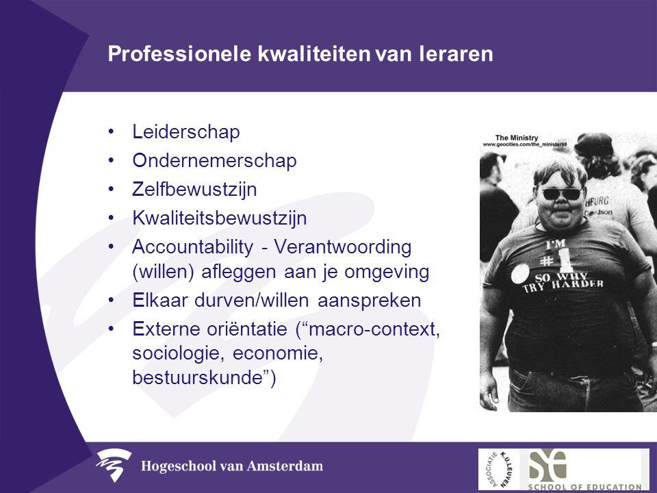 Professionele kwaliteiten van leraren