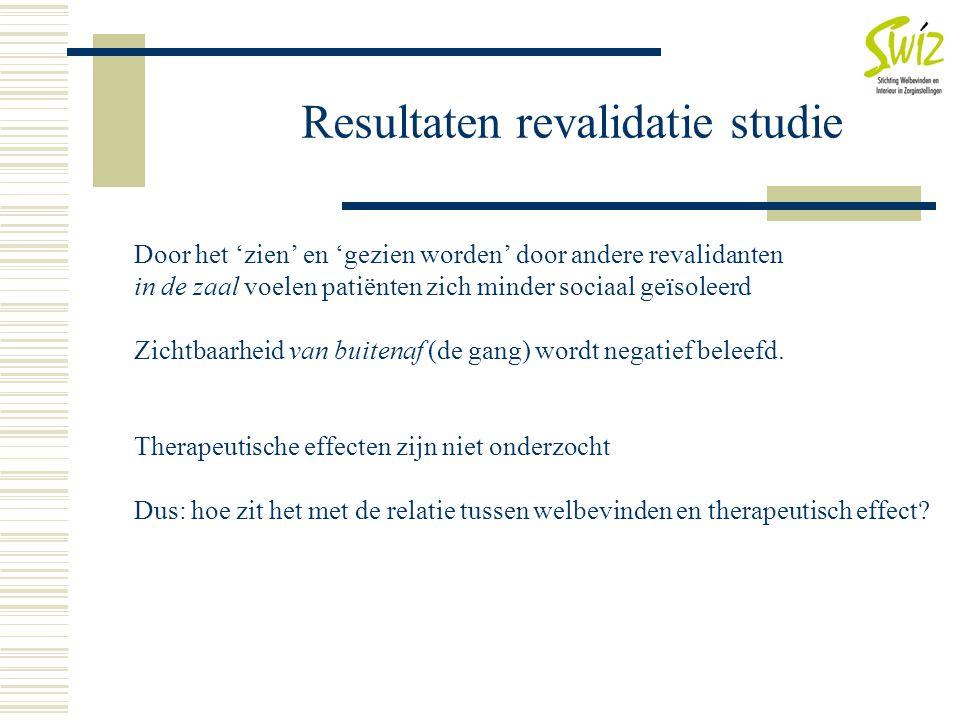 Resultaten revalidatie studie