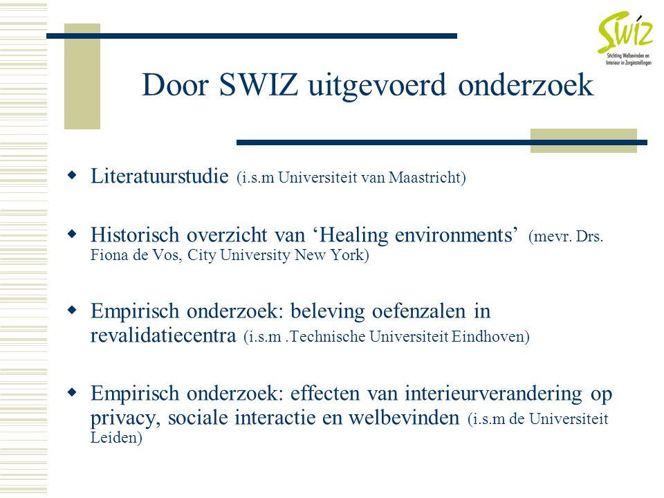 Door SWIZ uitgevoerd onderzoek