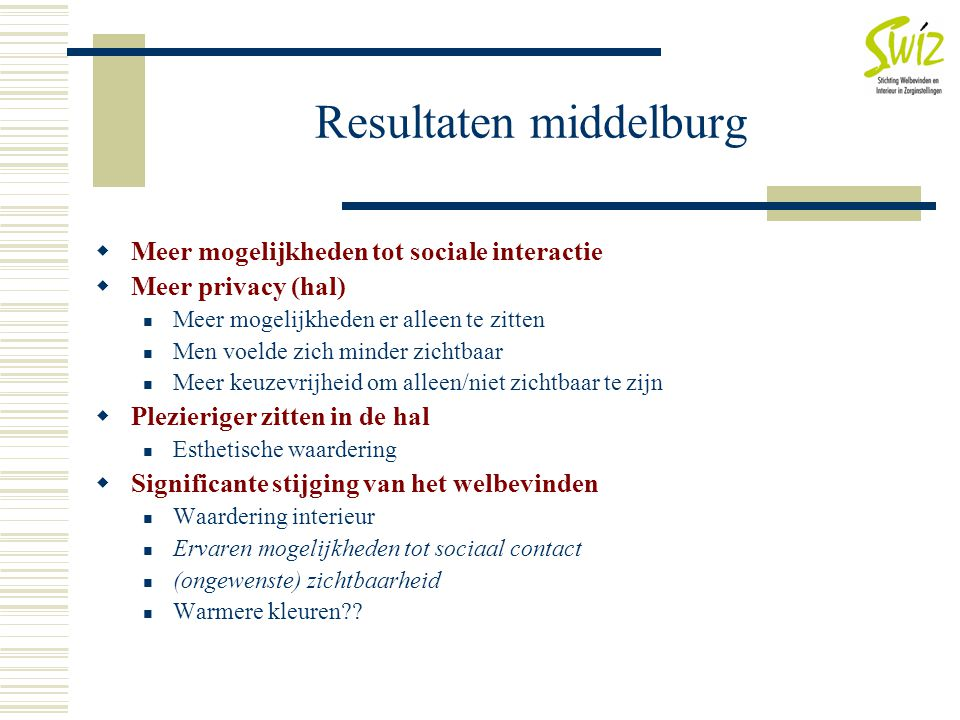 Resultaten middelburg