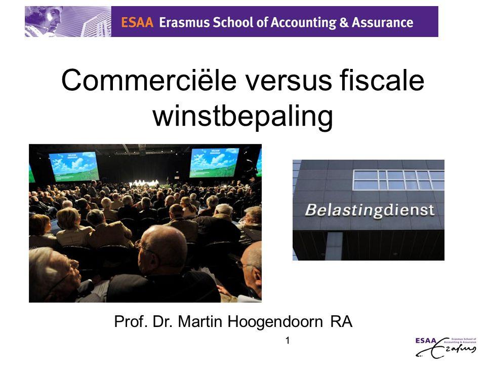 Commerciële versus fiscale winstbepaling