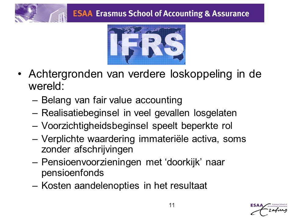 IFRS Achtergronden van verdere loskoppeling in de wereld: