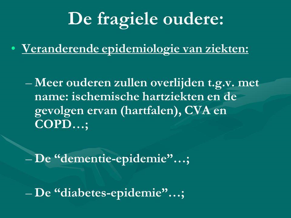 De fragiele oudere: Veranderende epidemiologie van ziekten: