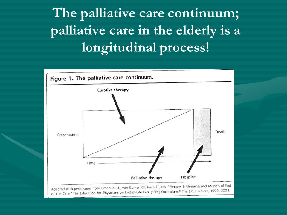 The palliative care continuum; palliative care in the elderly is a longitudinal process!