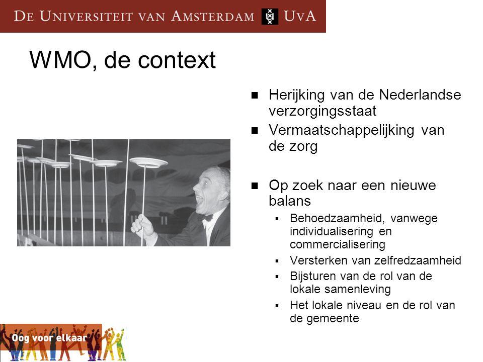 WMO, de context Herijking van de Nederlandse verzorgingsstaat