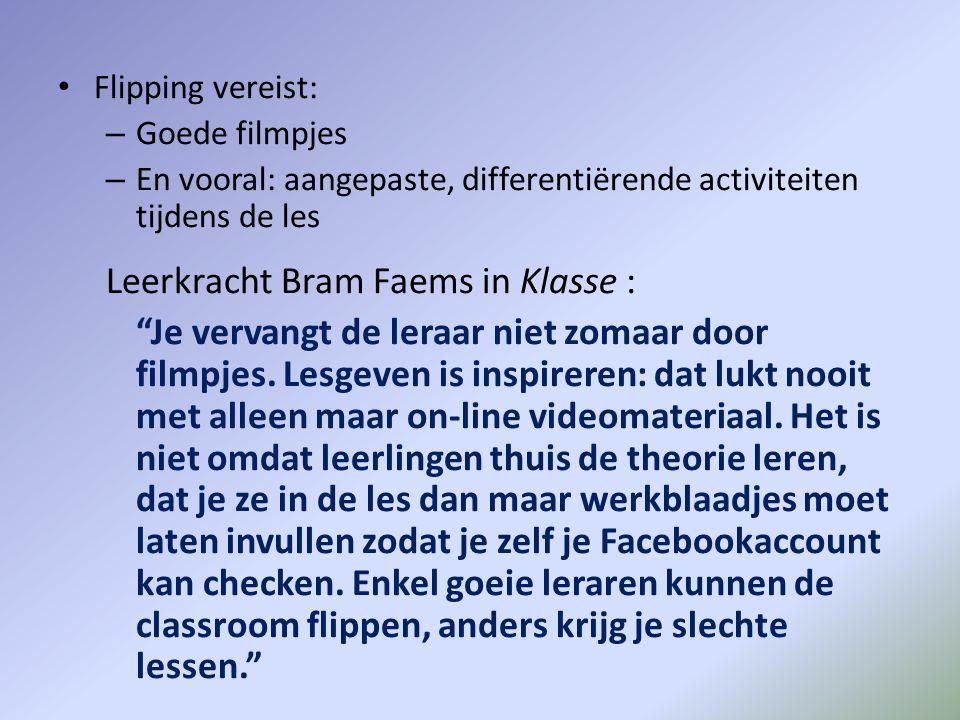 Leerkracht Bram Faems in Klasse :