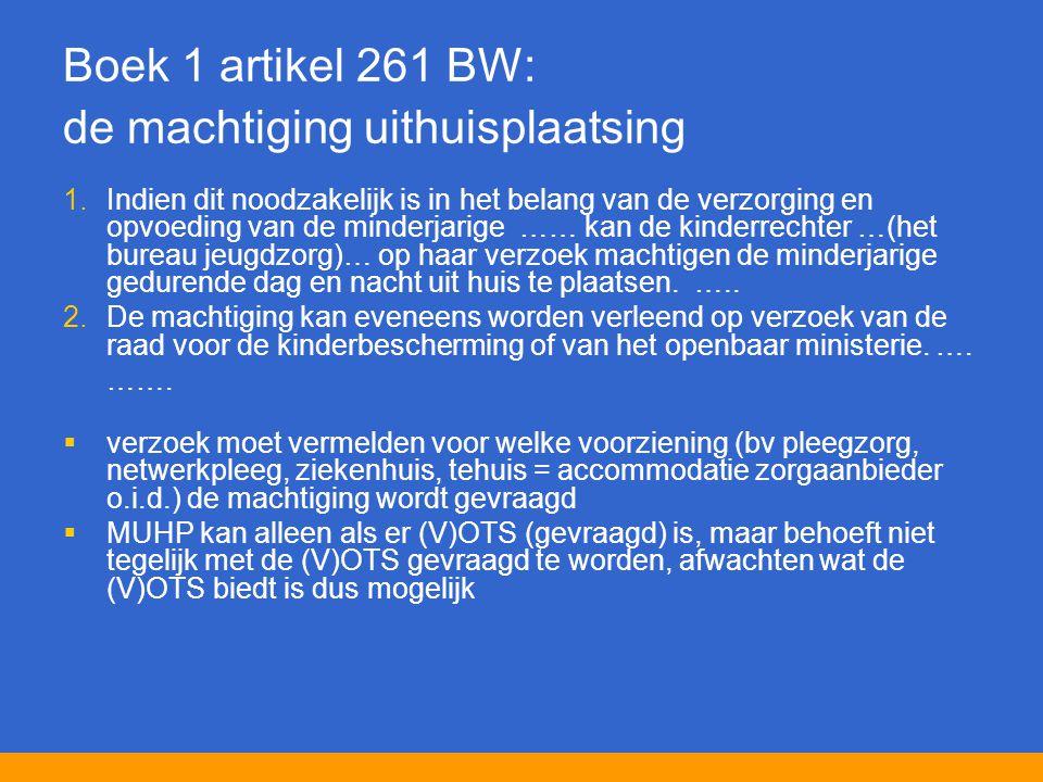 Boek 1 artikel 261 BW: de machtiging uithuisplaatsing