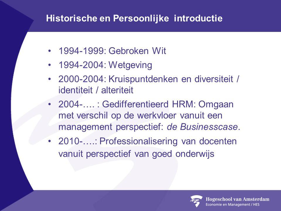 Historische en Persoonlijke introductie