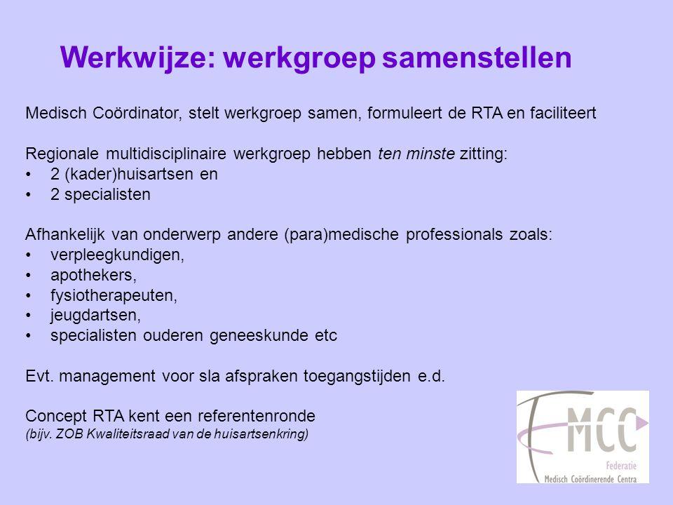 Werkwijze: werkgroep samenstellen
